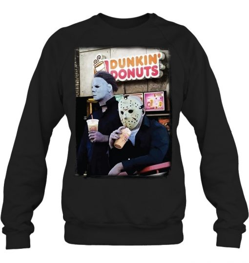 Dunkin' Donuts Jason Voorhees - Michael Myers Sweatshirt