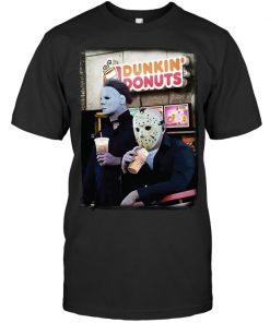 Dunkin' Donuts Jason Voorhees - Michael Myers T-shirt