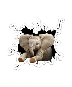 Elephant Crack Sticker