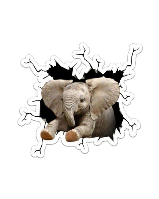 Elephant Crack Sticker