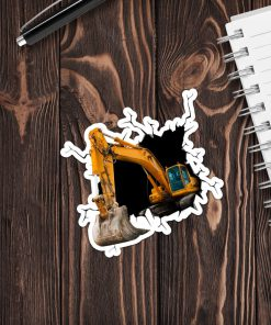 Excavator Crack Sticker 1
