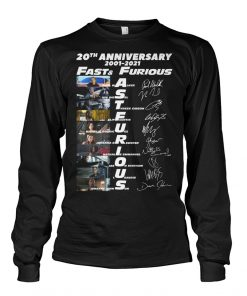 Fast and Furious 20th Anniversary 2001-2021 Long sleeve
