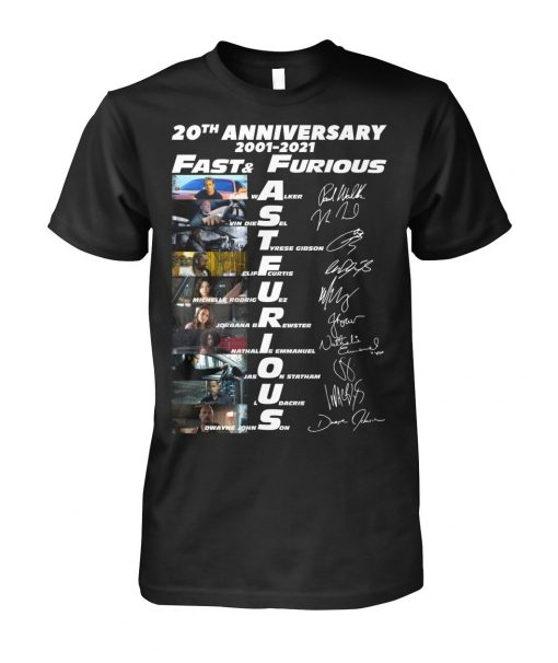 Fast and Furious 20th Anniversary 2001-2021 T-shirt