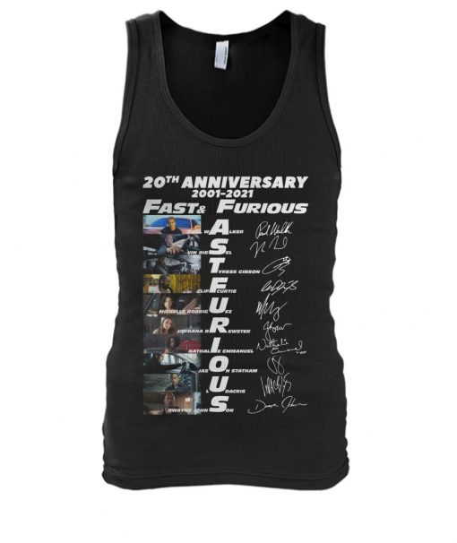 Fast and Furious 20th Anniversary 2001-2021 tank top