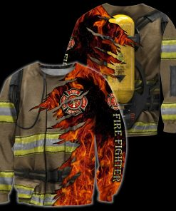 Firefighter 3D All Over Printed Hoodie4