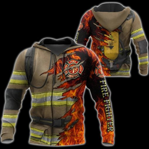 Firefighter 3D All Over Printed Hoodie6