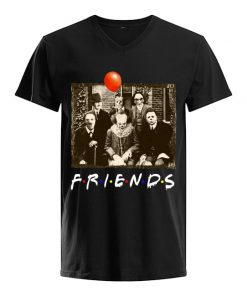 Friends horror film characters V-neck