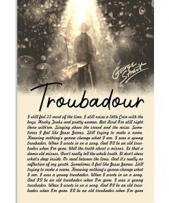George Strait Lyrics Troubadour poster