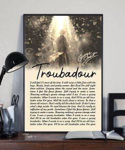 George Strait Lyrics Troubadour poster2