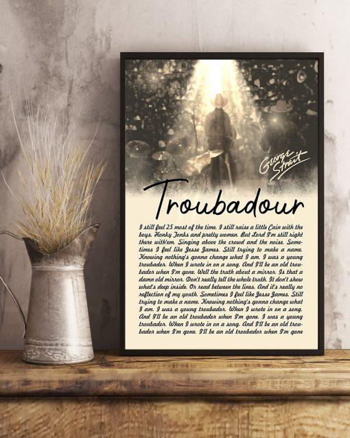 George Strait Lyrics Troubadour poster5