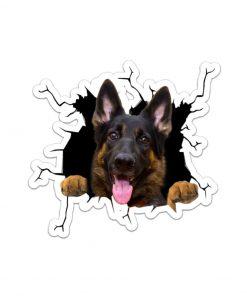 German Shepherd Crack Sticker