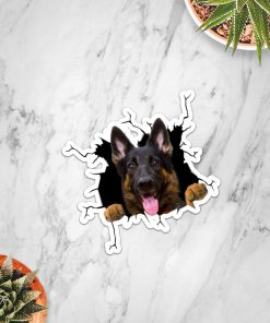 German Shepherd Crack Sticker3