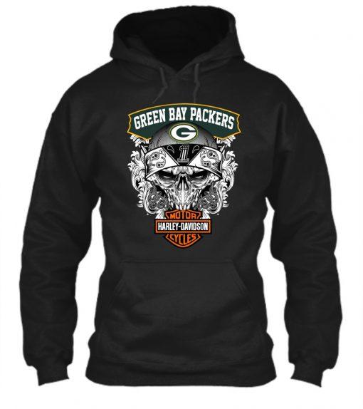 Green Bay Packers Harley Davidson hoodie