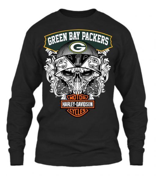Green Bay Packers Harley Davidson long sleeved
