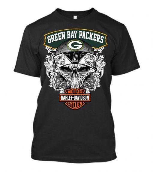 Green Bay Packers Harley Davidson shirt