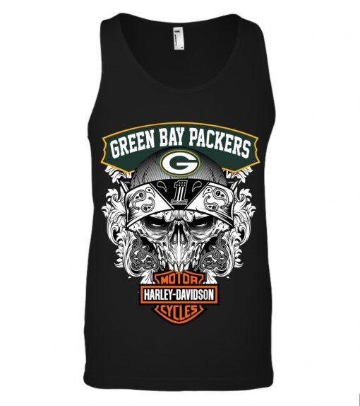 Green Bay Packers Harley Davidson tank top