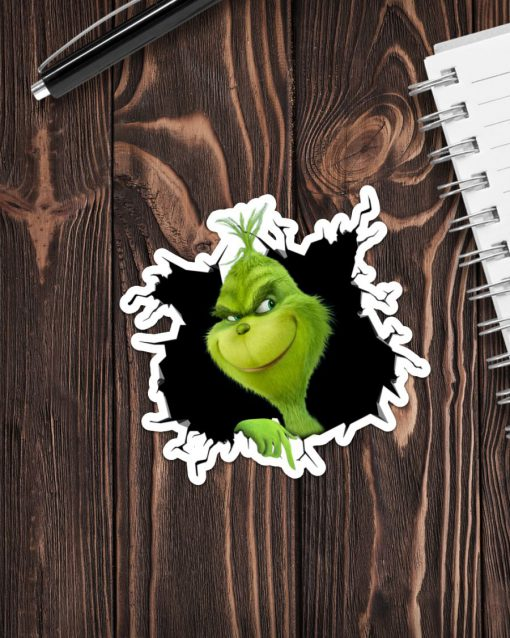 Grinch Crack Sticker 1