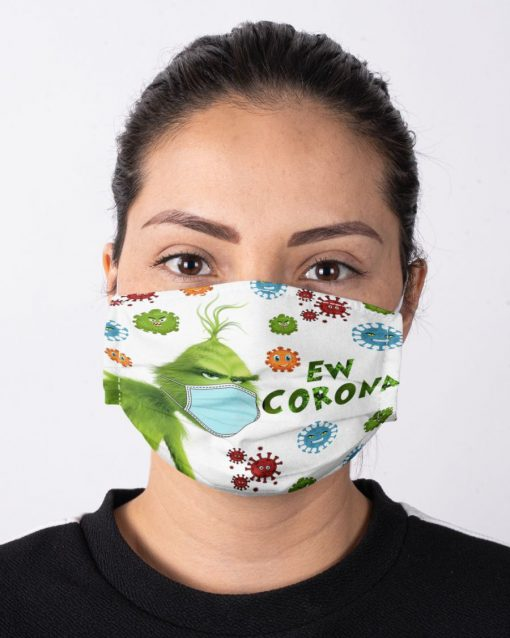 Grinch Ew Corona face mask1