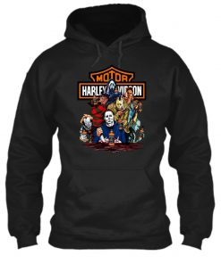 Harley Davidson Horror Film Characters Jack Daniel's hôdie