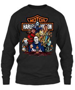 Harley Davidson Horror Film Characters Jack Daniel's long sleeved