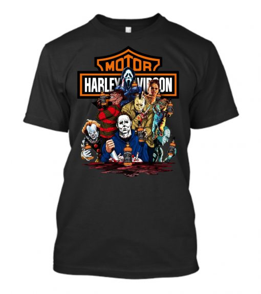 Harley Davidson Horror Film Characters Jack Daniel's shirt