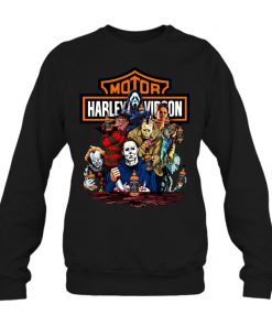 Harley Davidson Horror Film Characters Jack Daniel's sweatshirt