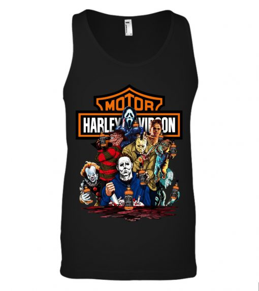 Harley Davidson Horror Film Characters Jack Daniel's tank top