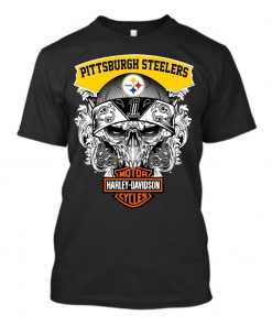 Harley Davidson Pittsburgh Steelers Skull shirt