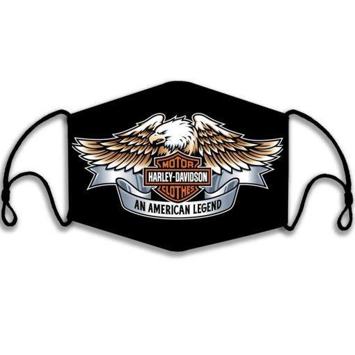 Harley-Davidson motorcycle An American legend face mask