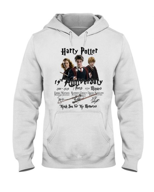 Harry Potter 19th anniversary Thank you for the memories hoodie