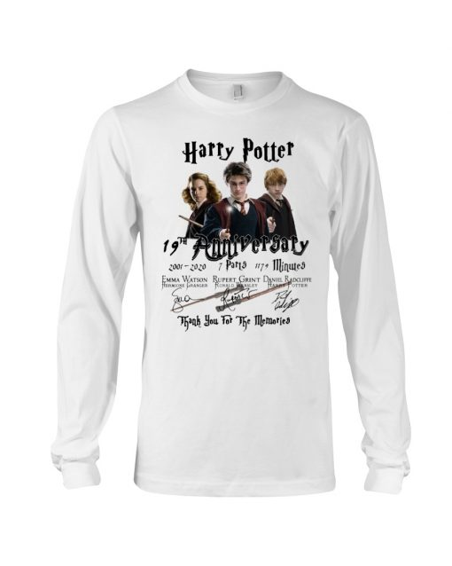 Harry Potter 19th anniversary Thank you for the memories long sleeve