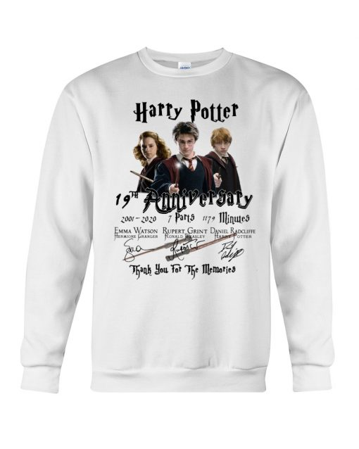 Harry Potter 19th anniversary Thank you for the memories sweatshirt