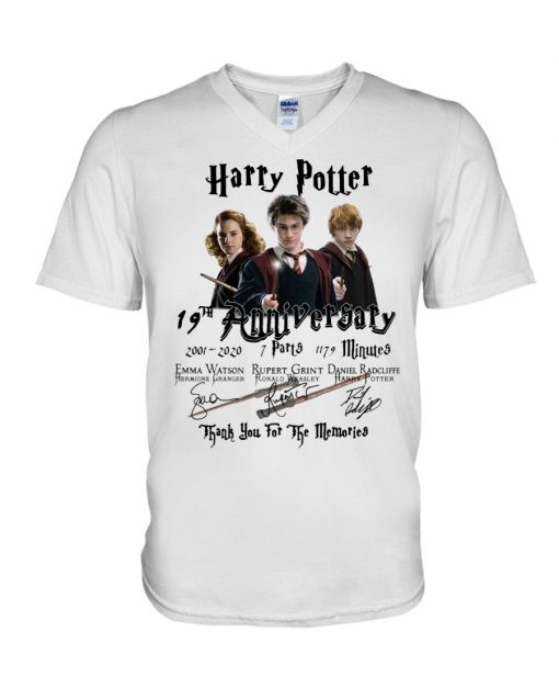 Harry Potter 19th anniversary Thank you for the memories v-neck