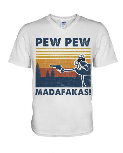 Horse Pew Pew Madafakas v-neck
