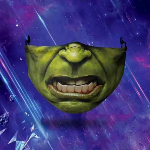 Hulk face 3D mask 0