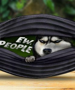 Husky Sibir Dog Eww People face mask 0