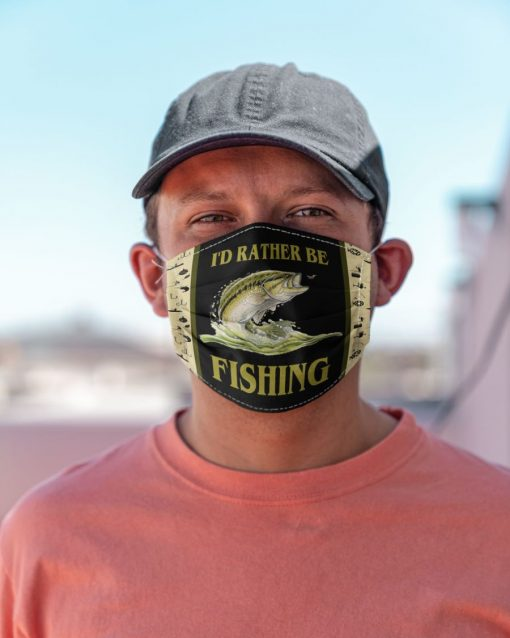 I'd rather be fishing face mask 0