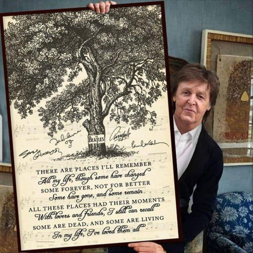 In My Life (I Love You More) with lyrics - The Beatles poster