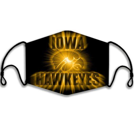 Iowa Hawkeyes face mask