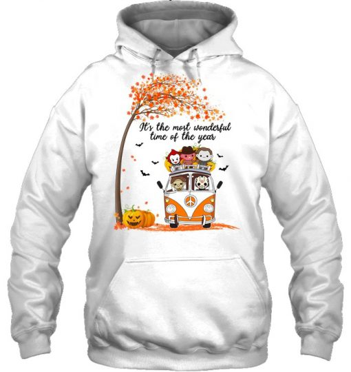 It's the most wonderful time of the year Halloween Horror Movie Characters Hoodie