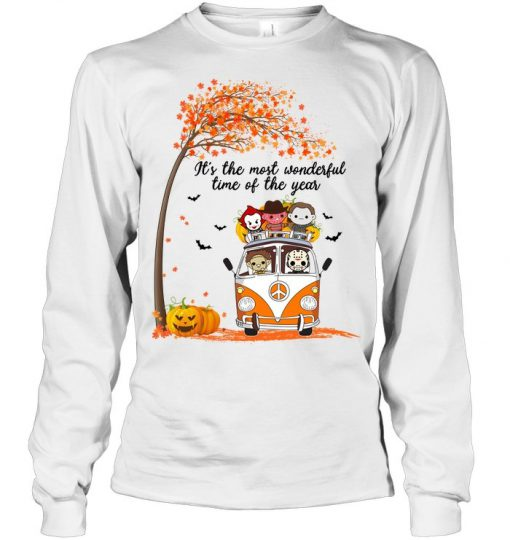 It's the most wonderful time of the year Halloween Horror Movie Characters Long sleeve