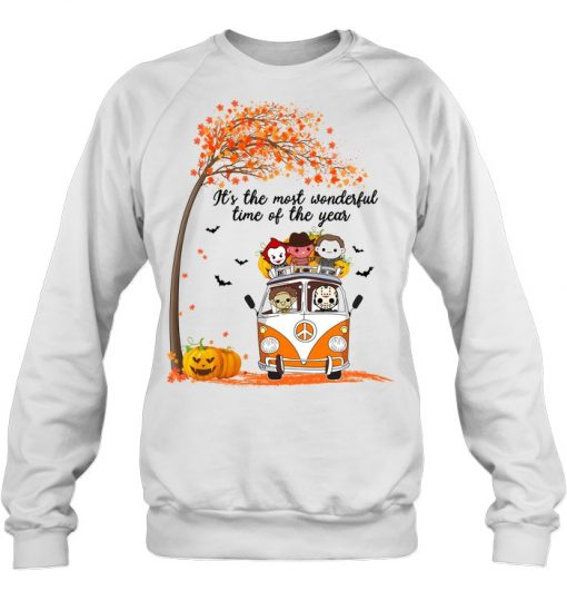 It's the most wonderful time of the year Halloween Horror Movie Characters Sweatshirt