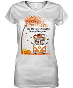 It's the most wonderful time of the year Halloween Horror Movie Characters v-neck