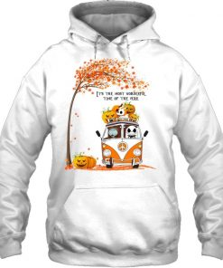 Jack Skellington and Sally It's the most wonderful time of the year VW Volkswagen Bus Hippie Peace Hoodie