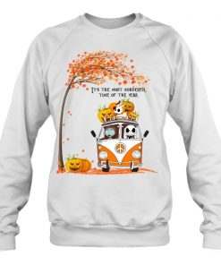 Jack Skellington and Sally It's the most wonderful time of the year VW Volkswagen Bus Hippie Peace Sweatshirt