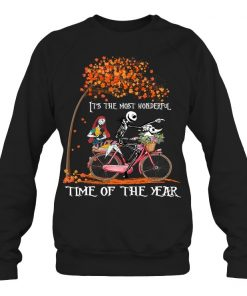 Jack Skellington and Sally It's the most wonderful time of the year bicycle Sweatshirt