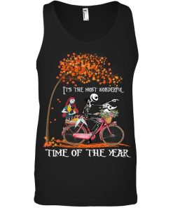 Jack Skellington and Sally It's the most wonderful time of the year bicycle Tank top