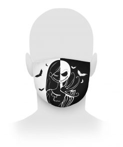 Jack Skellington and Sally face mask1