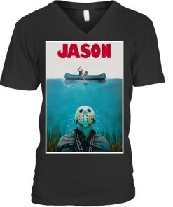 Jason Voorhees Friday The 13th Jaws v-neck