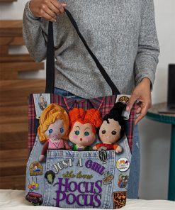 Just a girl who loves Hocus Pocus tote bag 1
